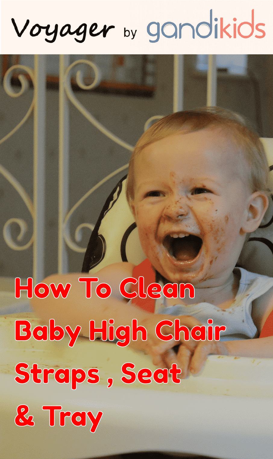 How to clean baby high chair