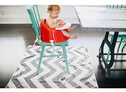Example of splash mat for baby high chair