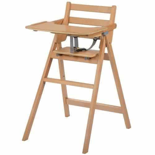 Exemple de chaise haute bébé traditionnelle